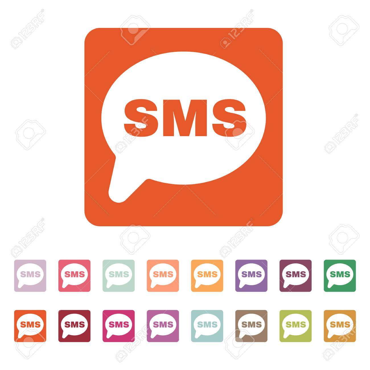 The Sms Icon Text Message Symbol Flat Vector Illustration