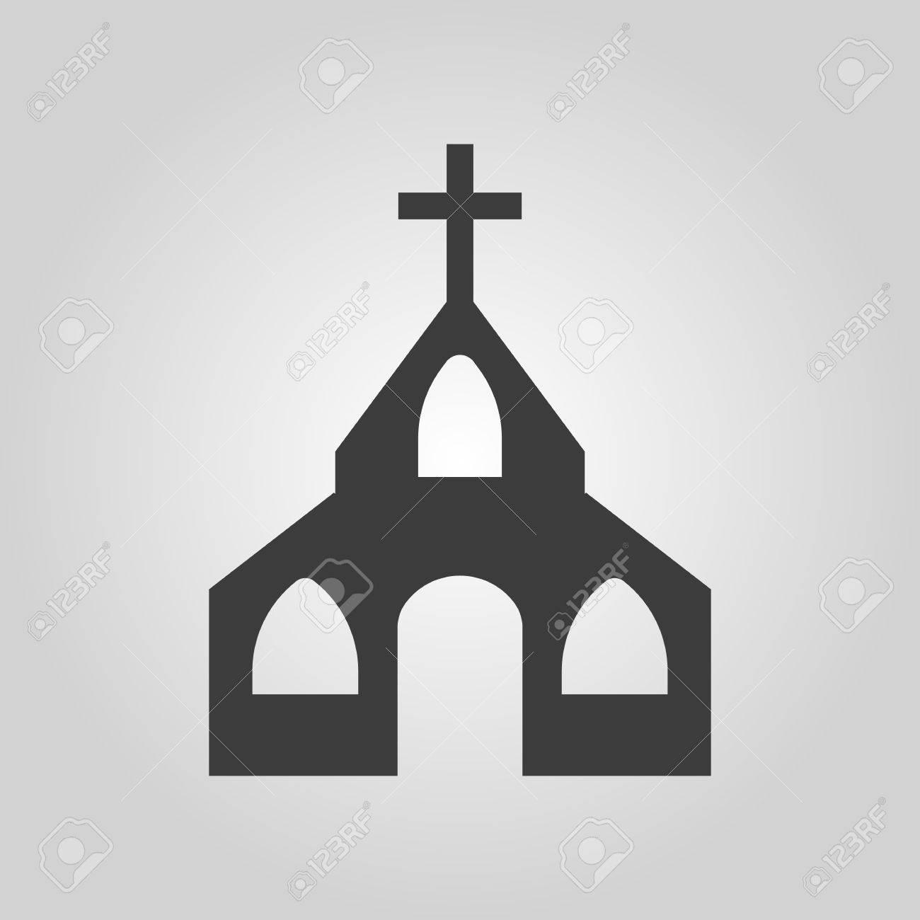 The Church Icon Christian And God Catholic Faith Symbol Flat