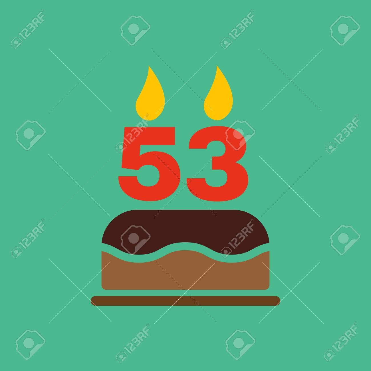 Me presento 47735242-La-torta-de-cumplea-os-con-velas-en-forma-de-n-mero-53-icono-s-mbolo-de-cumplea-os-Ilustraci-n-del-v-Foto-de-archivo