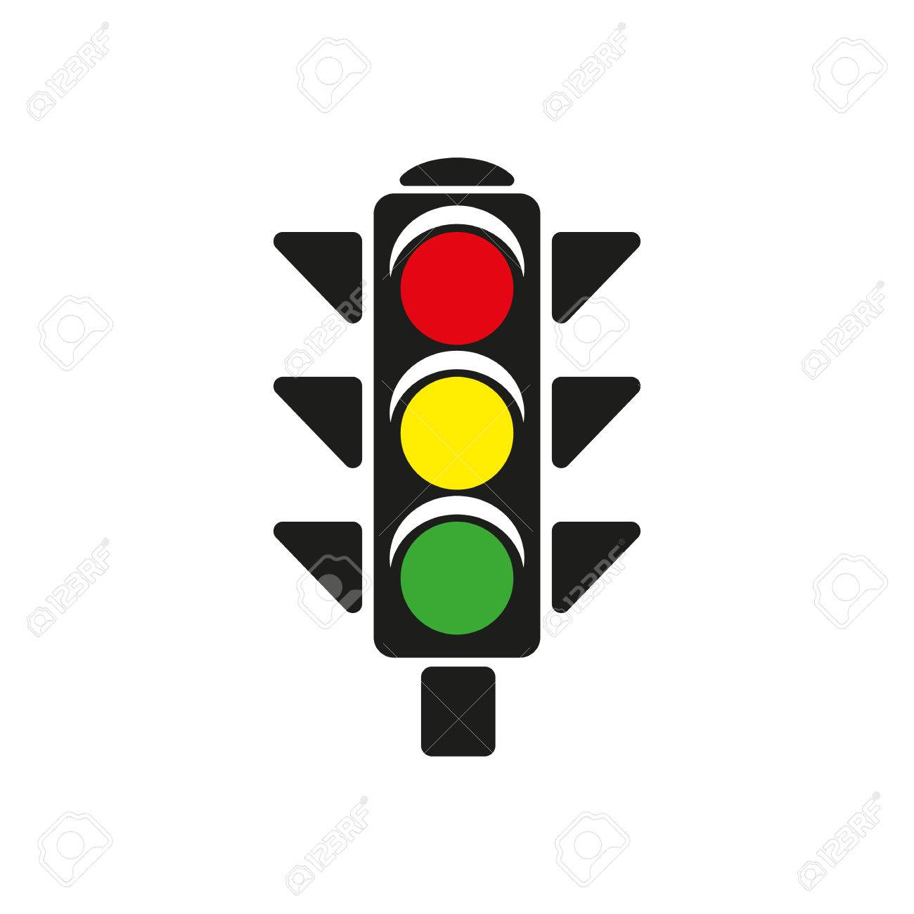 The Traffic Light Icon. Stoplight And Semaphore, Crossroads ... for Traffic Light Yellow Icon  51ane