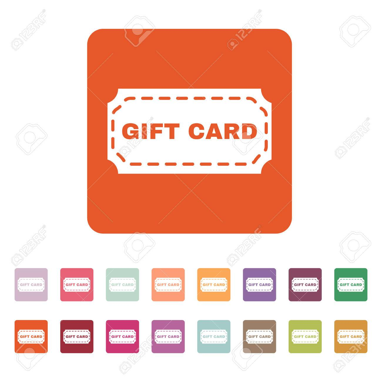 The Gift Card Icon. Coupon And Discount , Offer Symbol. Flat ...