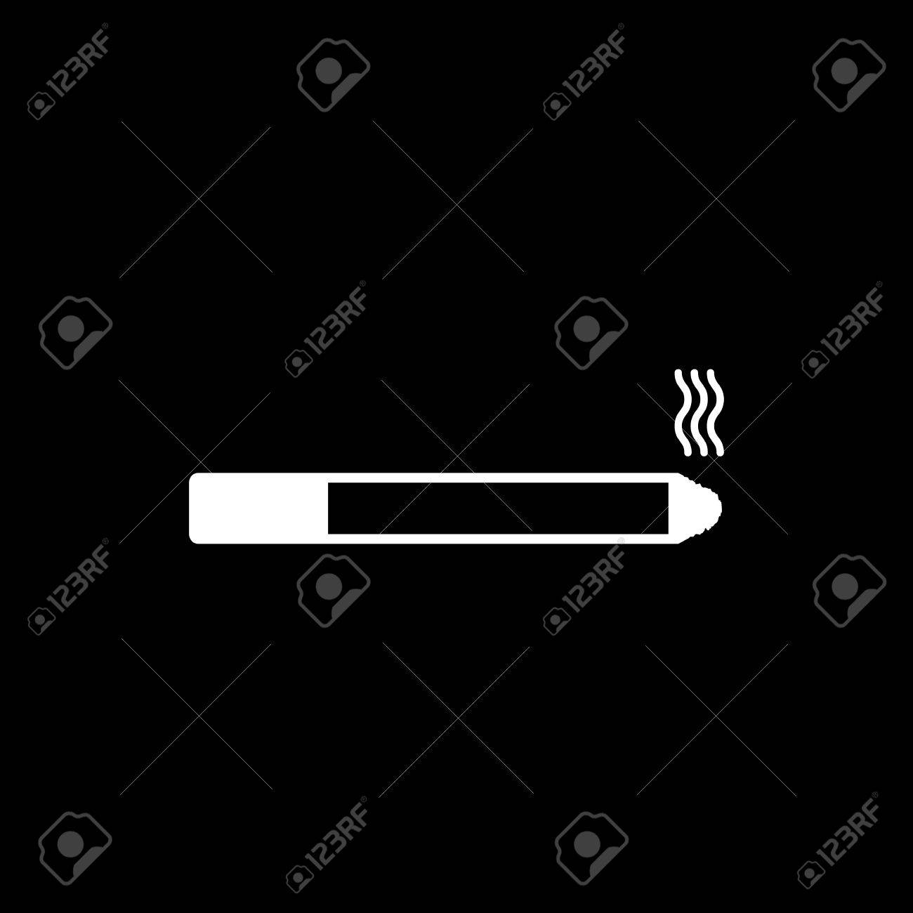 The smoking icon cigarette symbol flat vector illustration royalty the smoking icon cigarette symbol flat vector illustration stock vector 48087900 buycottarizona Images