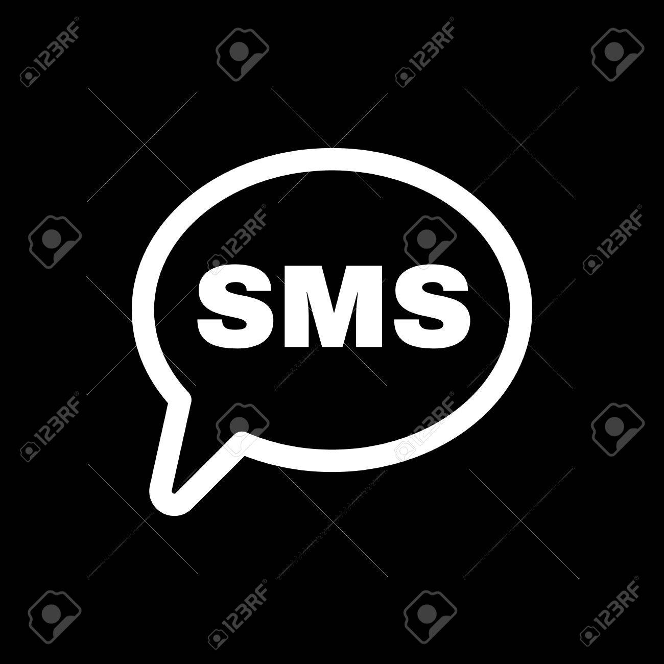 The sms icon text message symbol flat vector illustration text message symbol flat vector illustration stock vector 48241486 buycottarizona Images