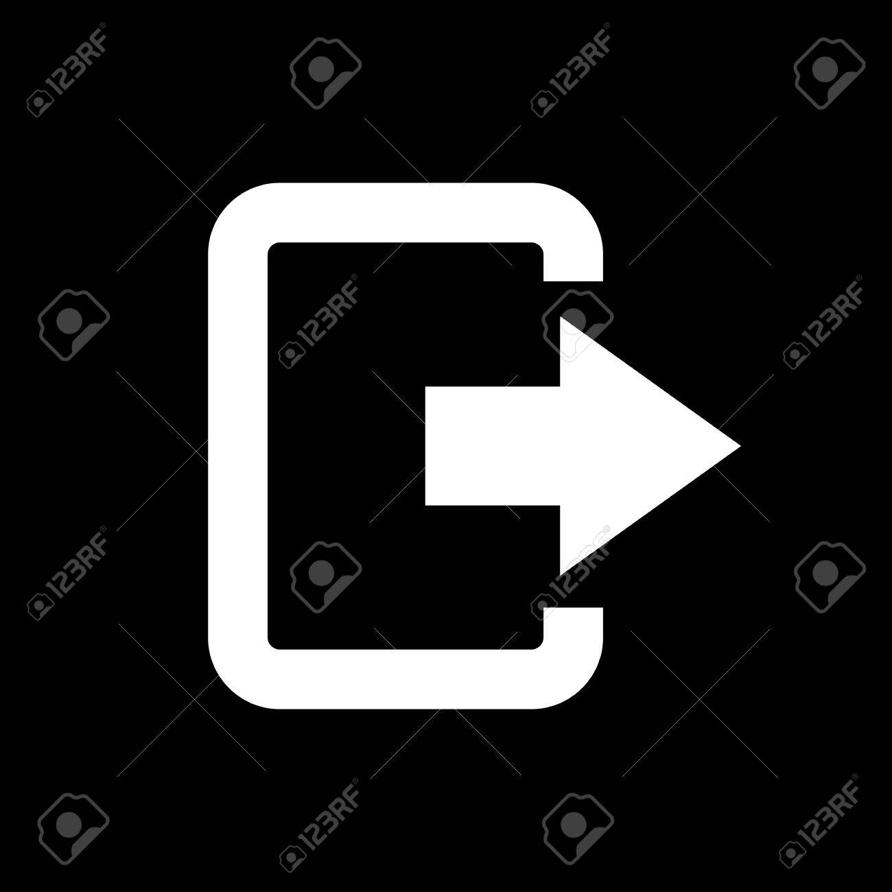 The Exit Bag Icon. Logout And Output, Outlet, Out Symbol. Flat ...