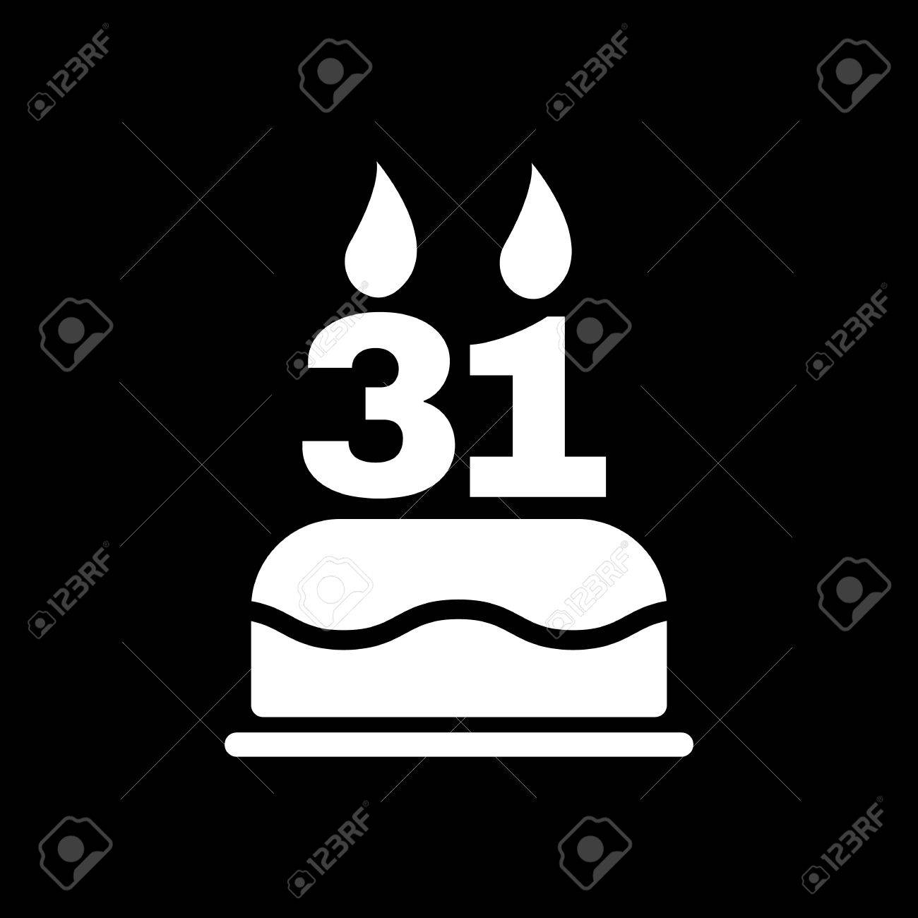 The birthday cake with candles in the form of number 31 icon the birthday cake with candles in the form of number 31 icon birthday symbol buycottarizona