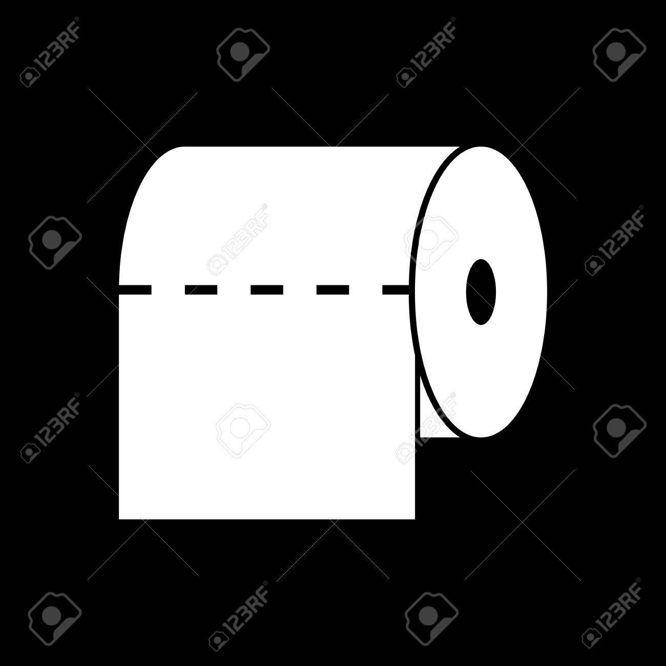 Handtuch Und Schrank, Toilette, Badezimmer Symbol. Wohnung