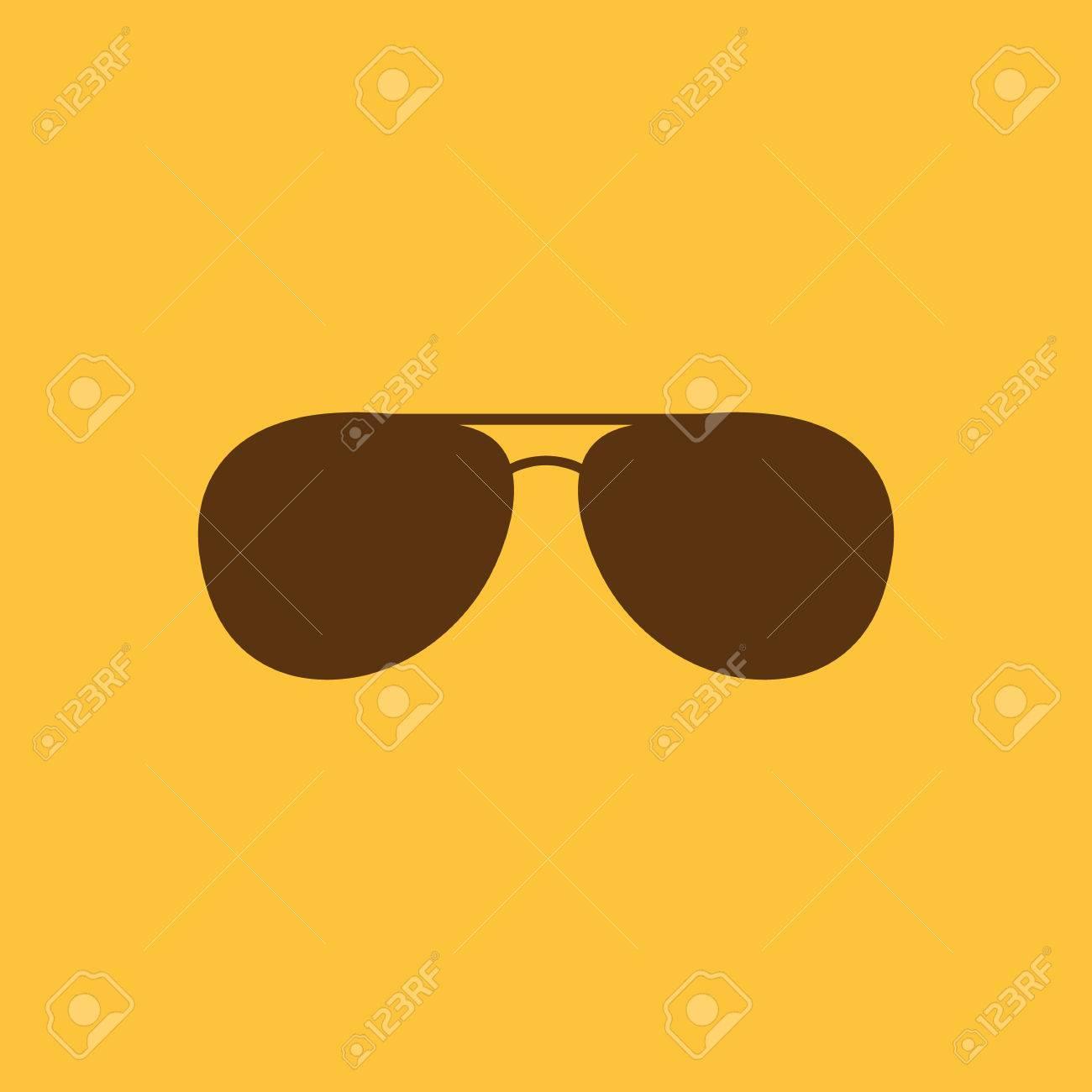The Sunglasses Icon Glasses Symbol Flat Vector Illustration