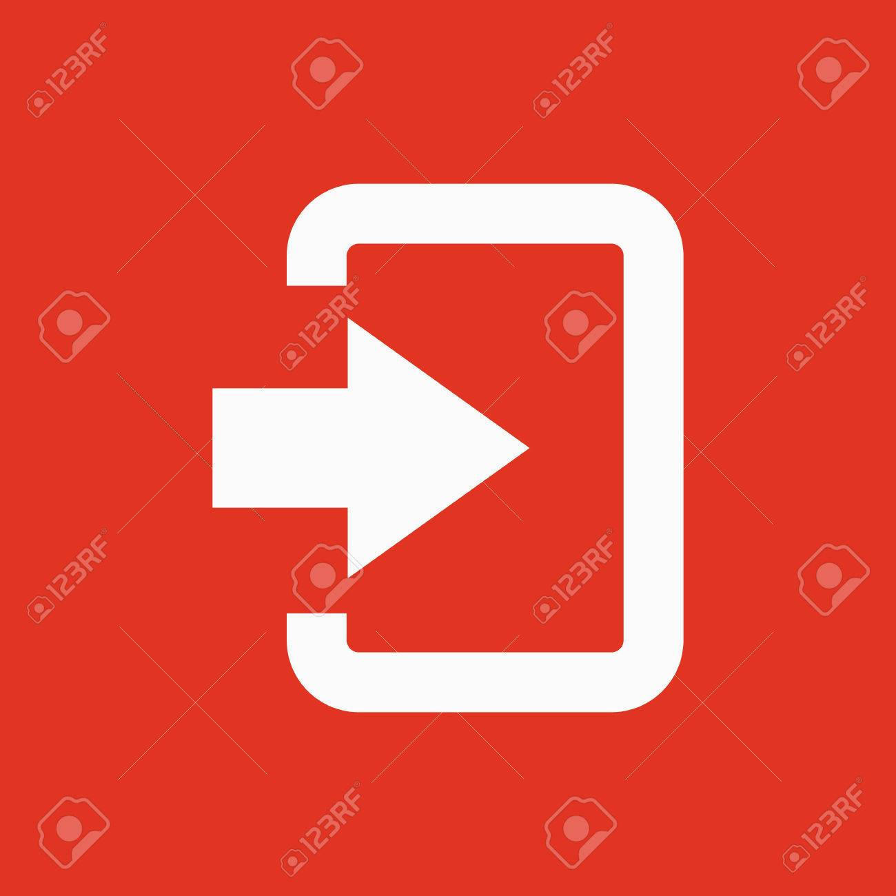 the login icon entry and input authorization symbol flat vector rh 123rf com  red vector login