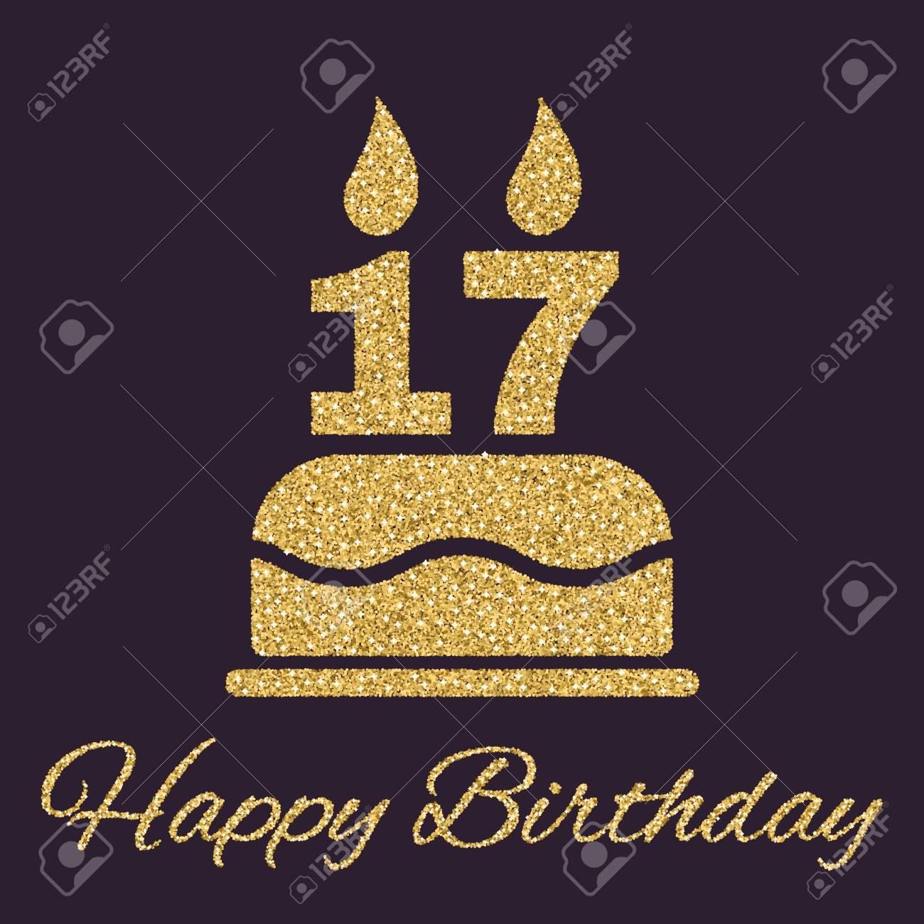 Strange The Birthday Cake With Candles In The Form Of Number 17 Icon Funny Birthday Cards Online Alyptdamsfinfo