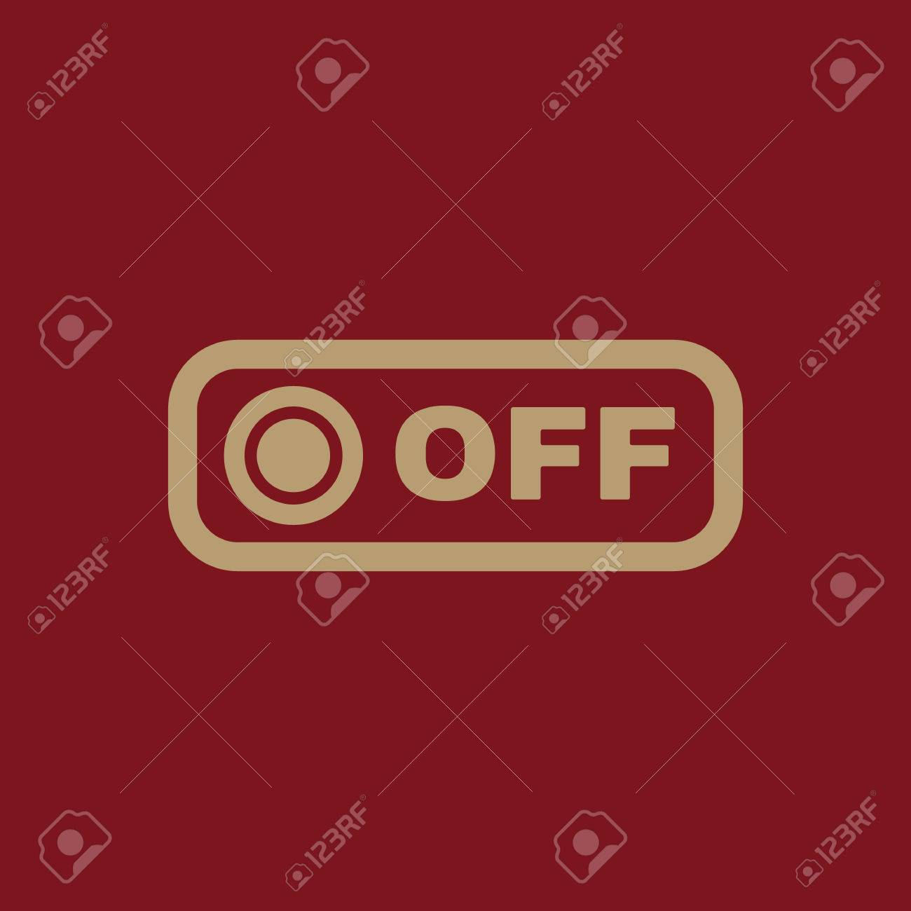 The Off Button Icon. Off Switch Symbol. Flat Vector Illustration ...
