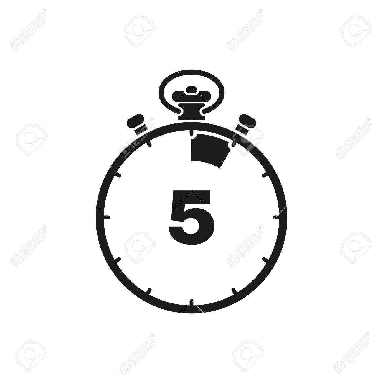 Cuenta PlanoAppStock IconoReloj 5 SegundosMinutos De El Los Cronómetro RelojTemporizadorSímbolo Y AtrásUiWebFirmarDiseño 80mnNwOv