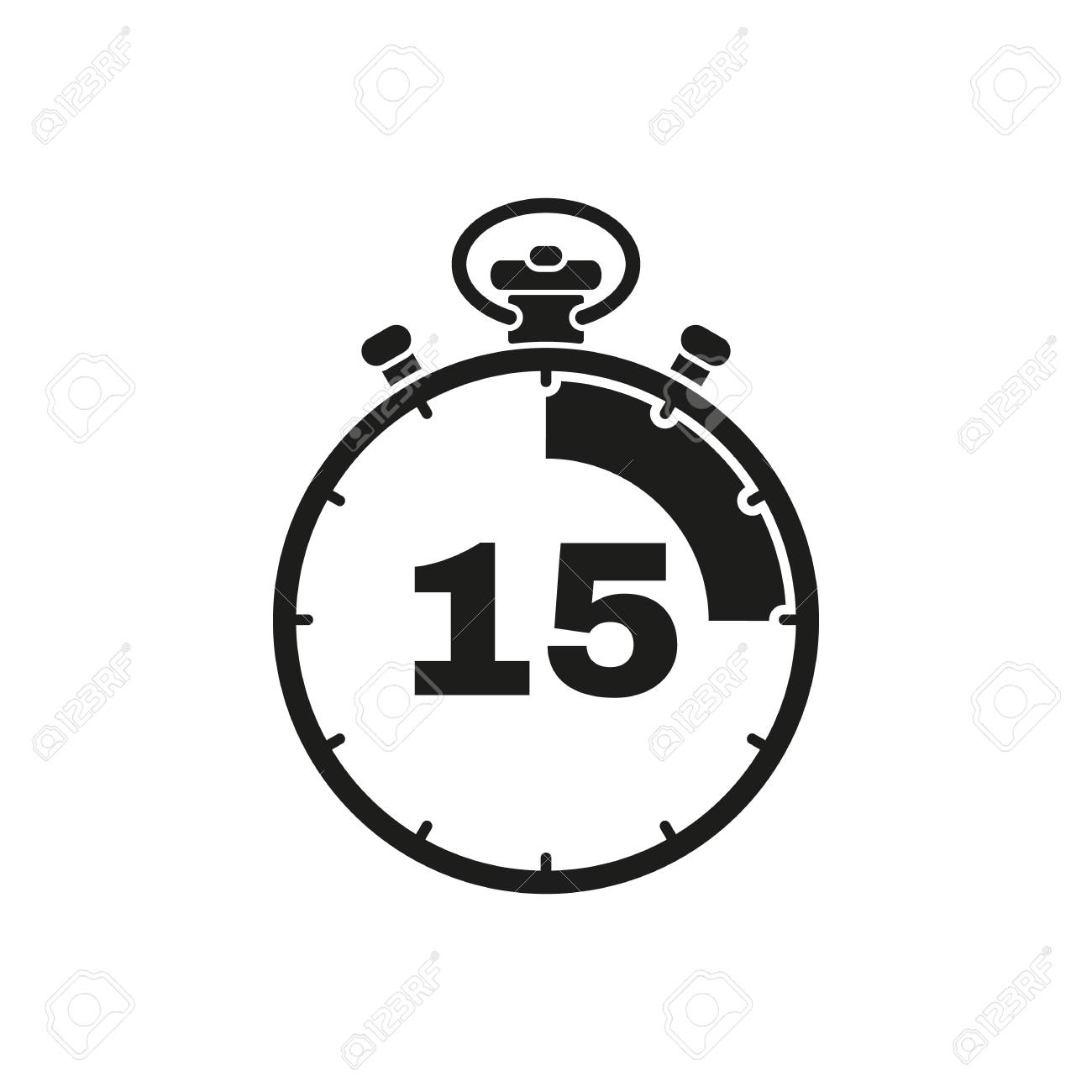 the 15 seconds minutes stopwatch icon clock and watch timer
