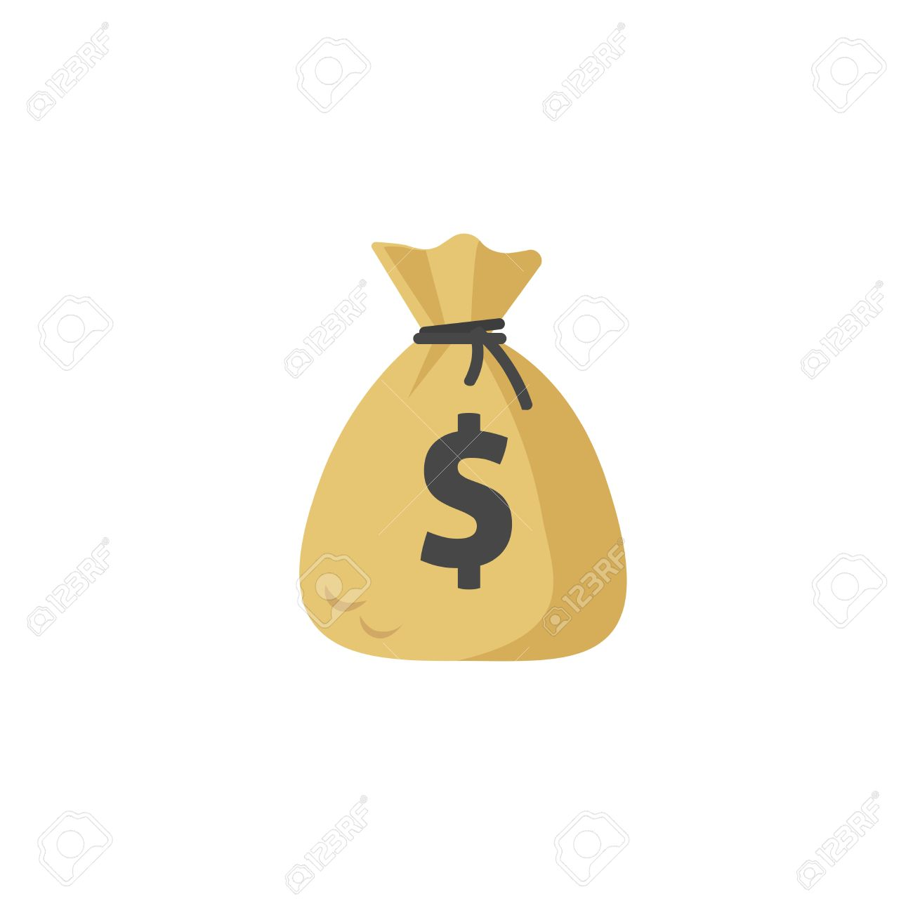 money bag vector icon moneybag flat simple cartoon illustration rh 123rf com money bag vector free download money bag emoji vector