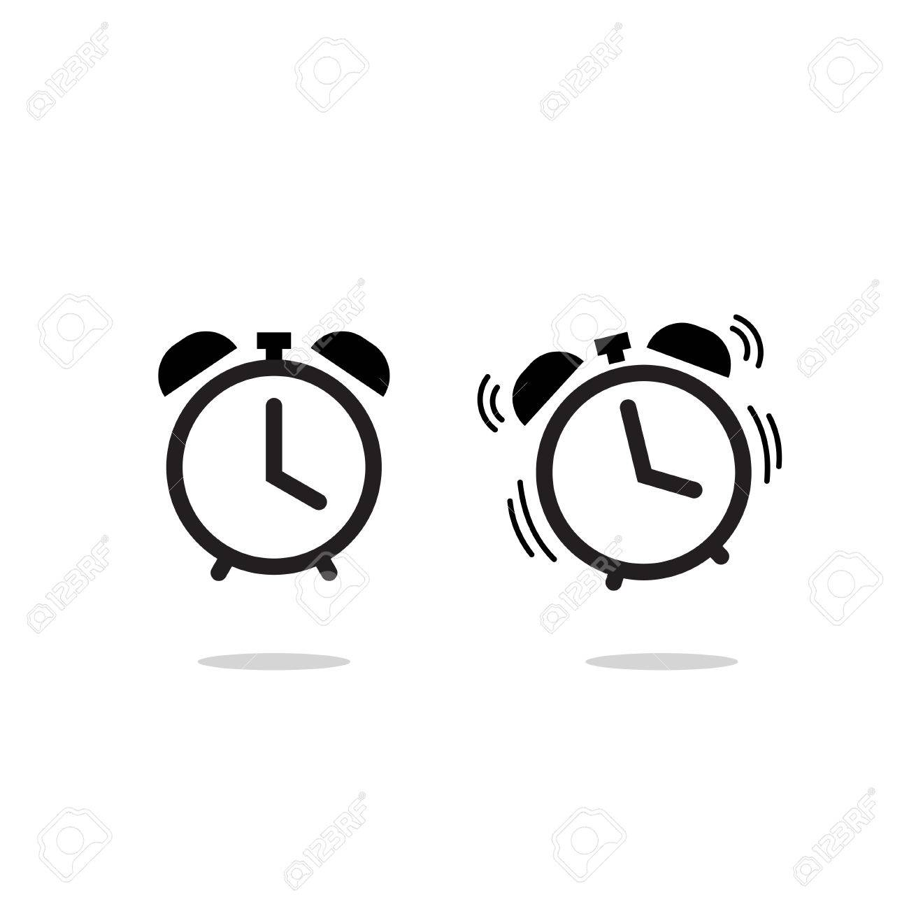 Alarm clock vector icon isolated on white background, simple line outline style, alarm clock ringing icon modern design - 56657703