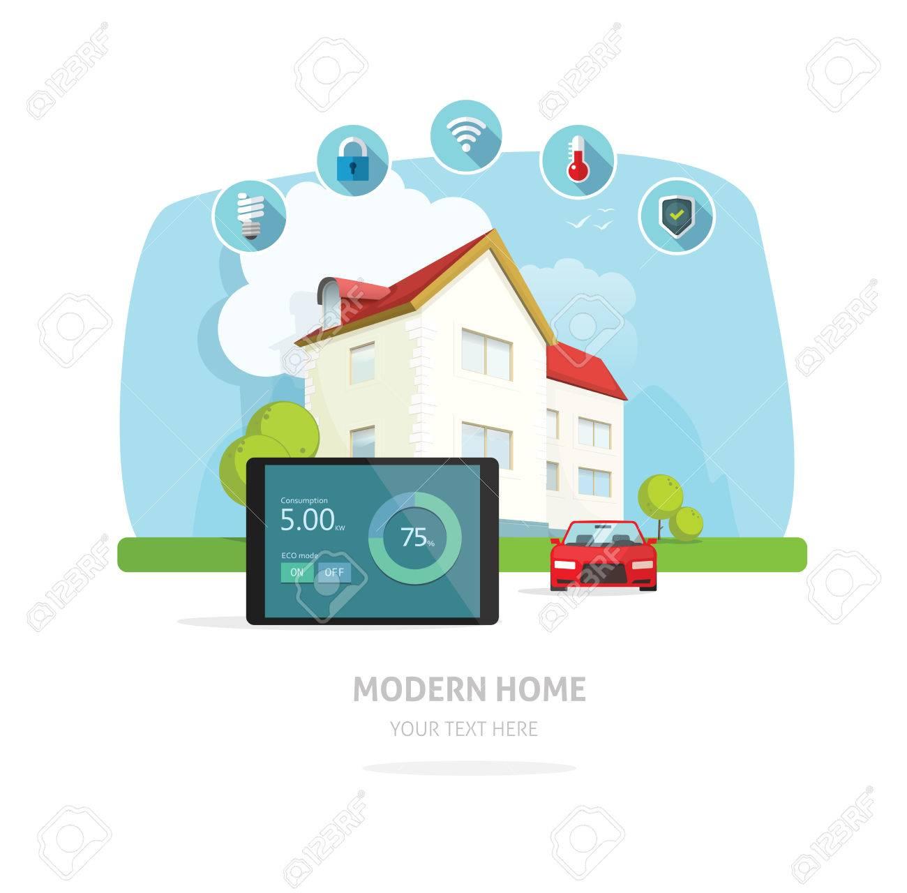 intelligent maison moderne maison future illustration vectorielle