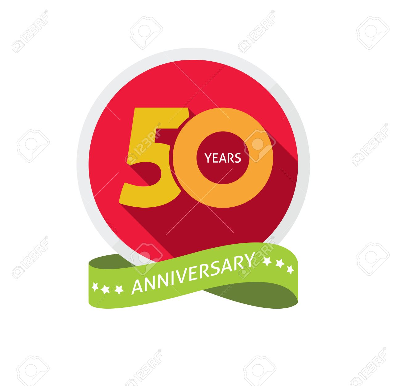 50th anniversary template with shadow on circle number 50 years 50th anniversary template with shadow on circle number 50 years icon fiftieth years birthday buycottarizona Choice Image