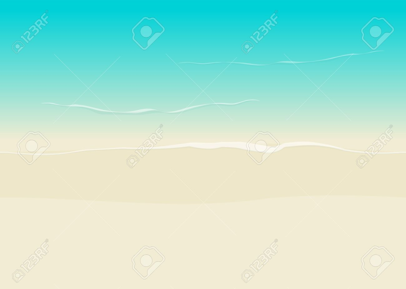 Beach Background Seamless Top View Vector Illustration Sea Coast And Sand Backdrop Stock