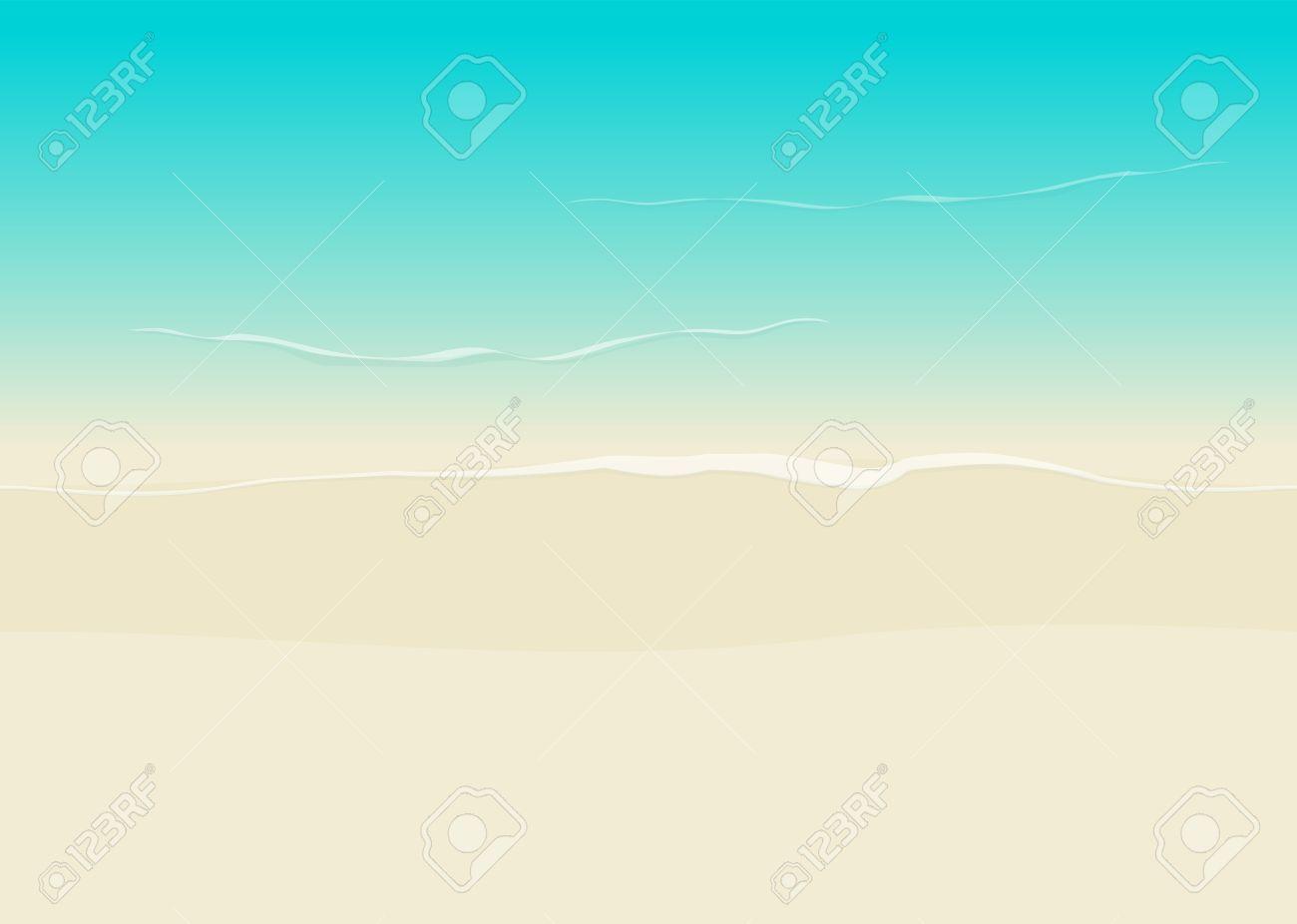 Vettoriale Beach Sfondo Illustrazione Vista Dallalto Senza