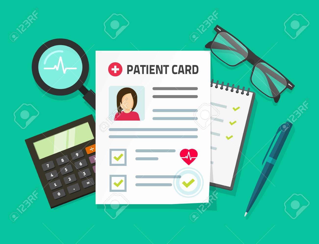 Informe De Investigación Médica Ilustración Vectorial, Plano De ...