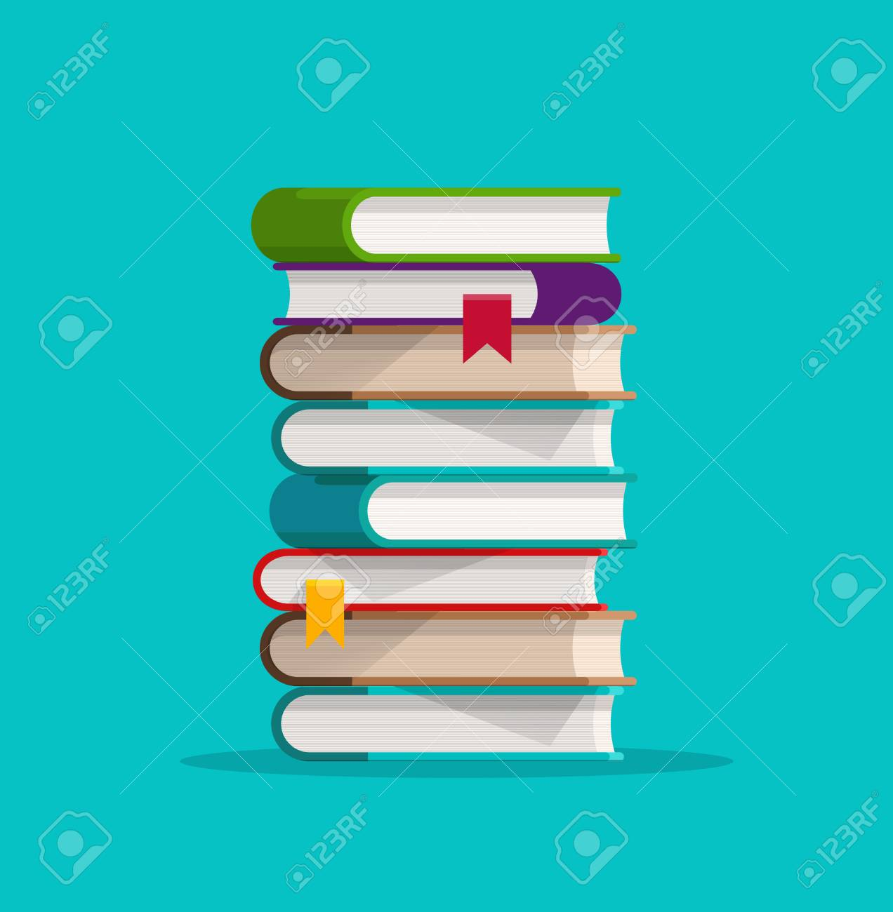 books stack or pile vector illustration flat cartoon paper book rh 123rf com cartoon picture of stack of books cartoon stack of books black and white