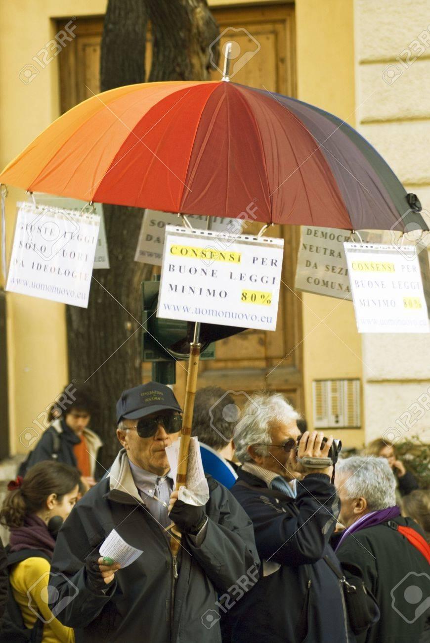 5 december 2009,Piazza della Republica,Rome,NoBday(not berlusconi's Day)The manifestation.people... Stock Photo - 6888050