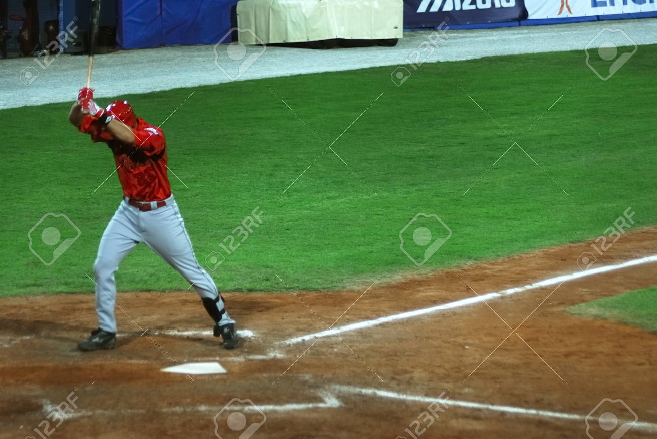 mage of the game betwen Canada and Cuba in the baseball worldcup. .Cuba was the winner,5x1,and pass to the final with USA. Stock Photo - 10007968