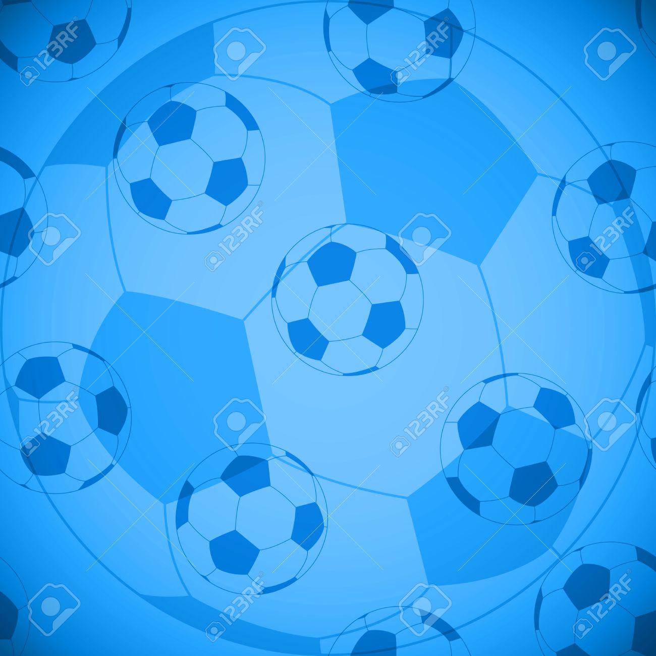 Vettoriale Carta Da Parati Di Calcio Sfondo Blu Senza Soluzione
