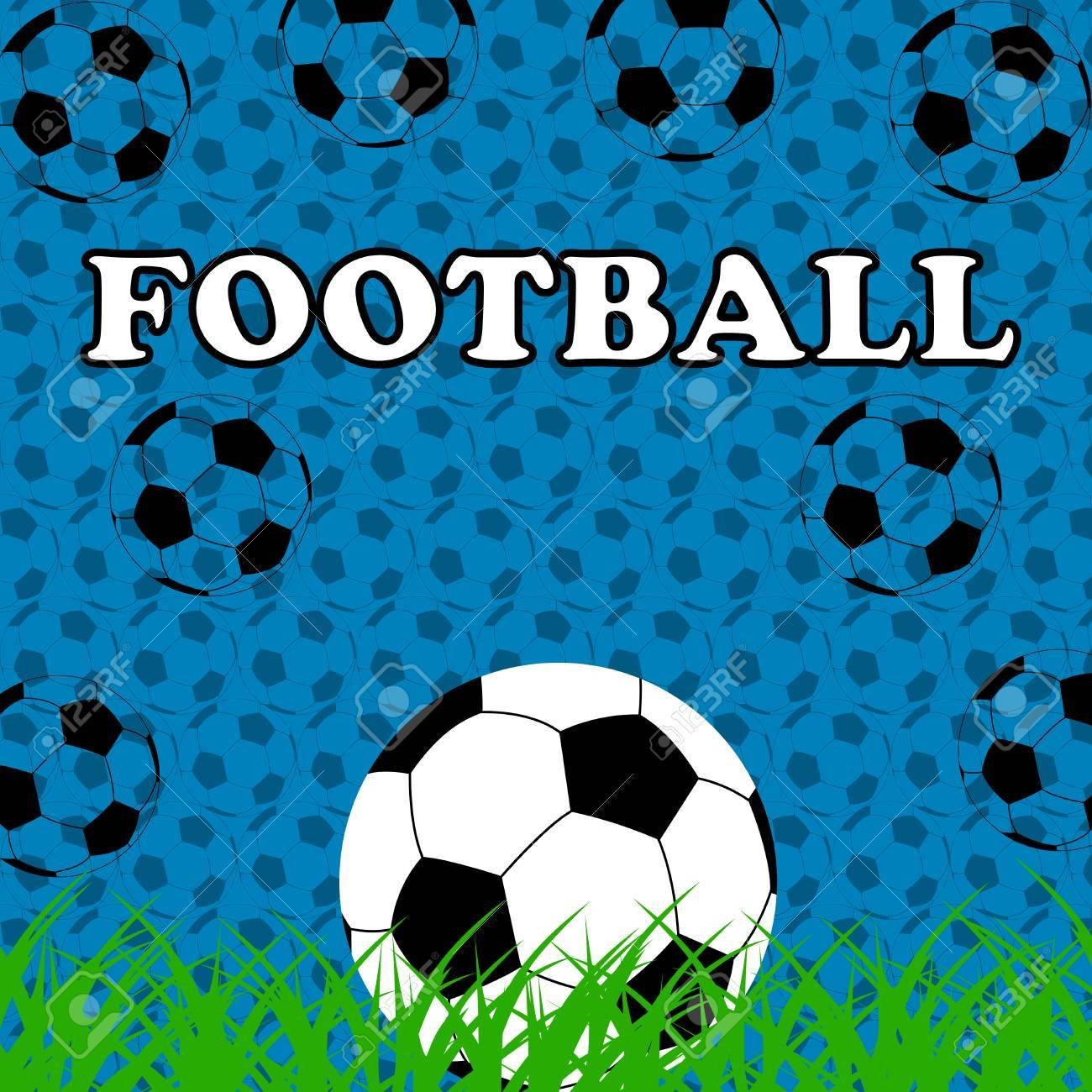 Vettoriale Sport 2014 Carta Da Parati Di Calcio Sfondo Blu