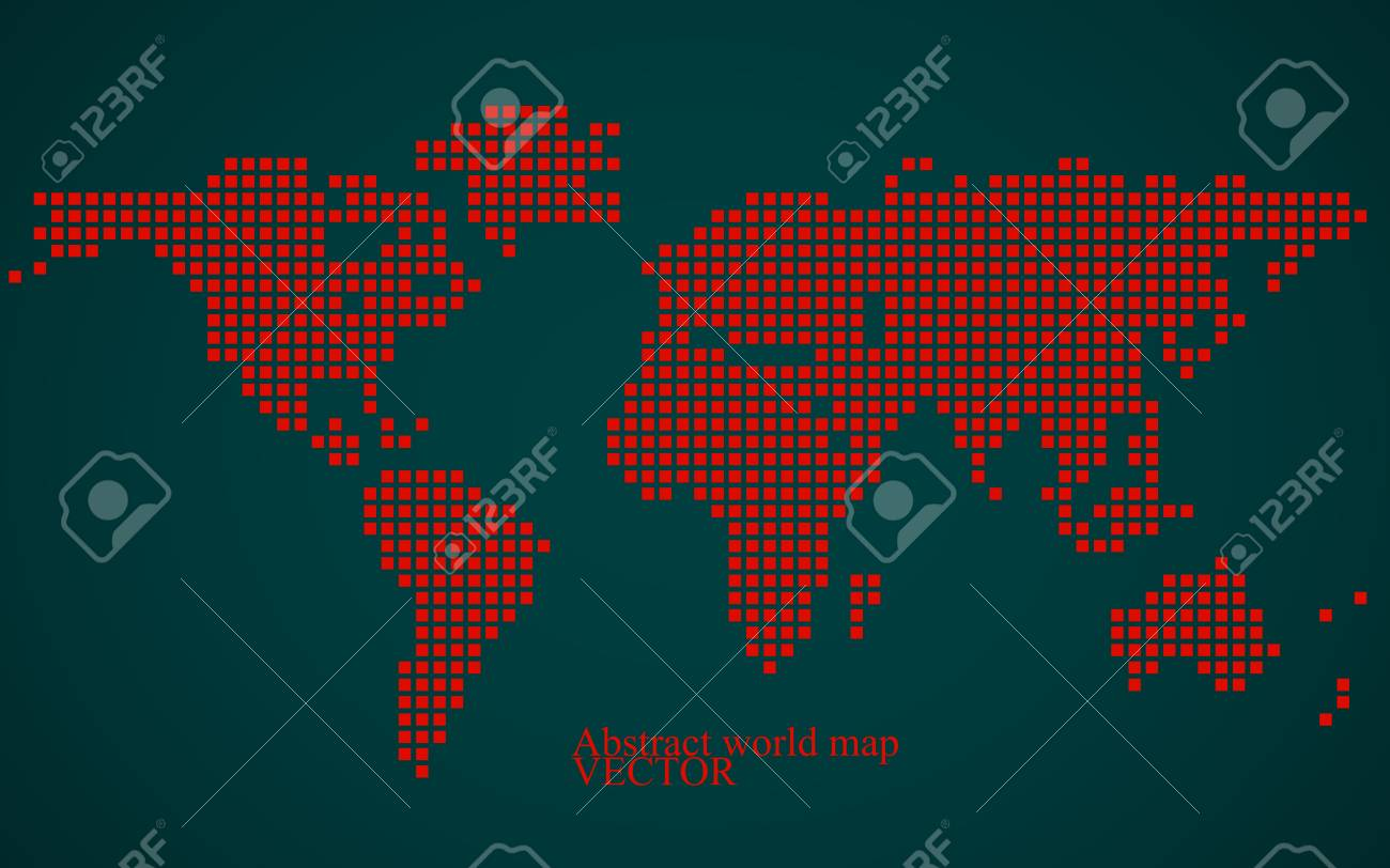 Abstract world map colorful pixel background vector illustration abstract world map colorful pixel background vector illustration eps 10 stock vector gumiabroncs Choice Image