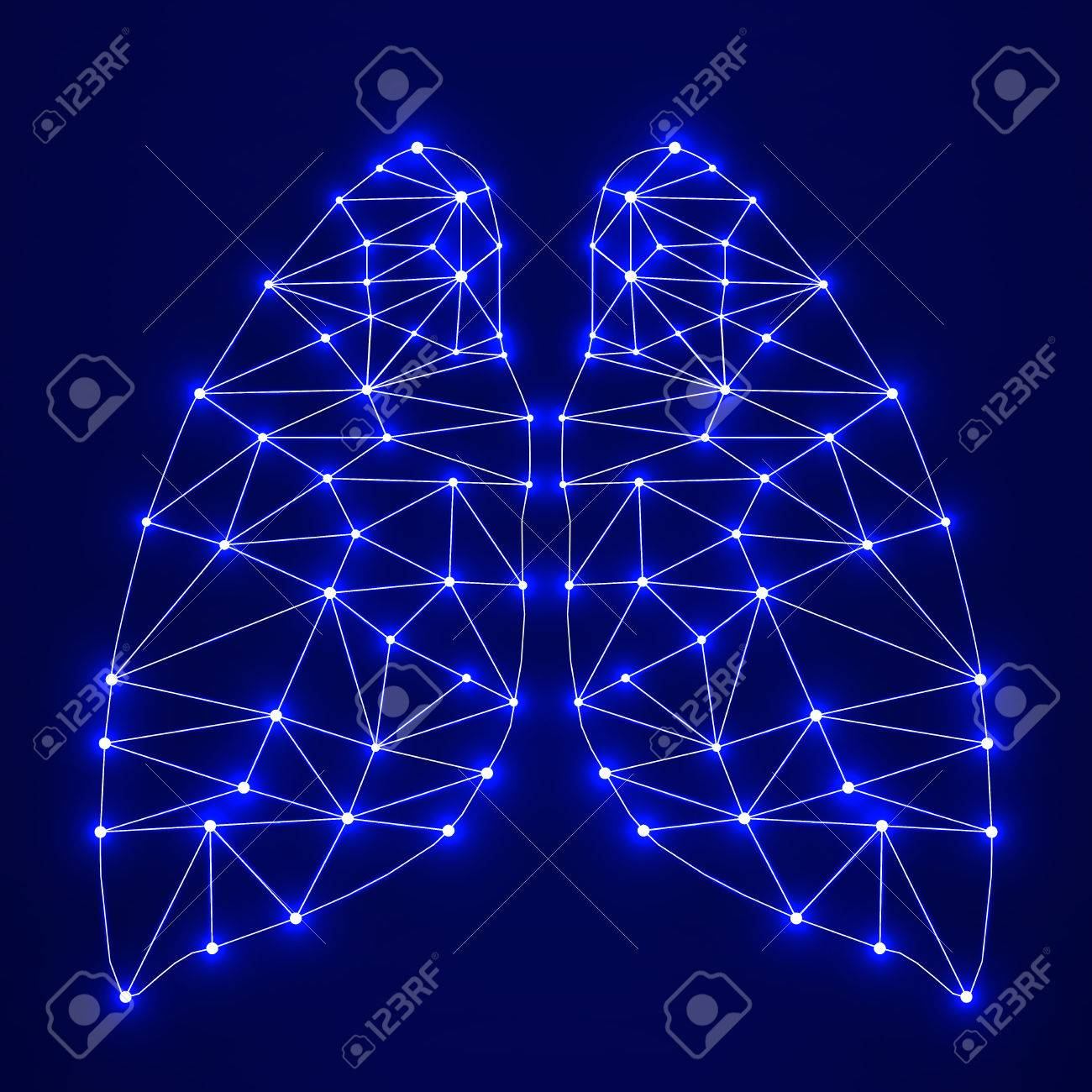 Abstract Human Lung Network Connections Royalty Free Cliparts