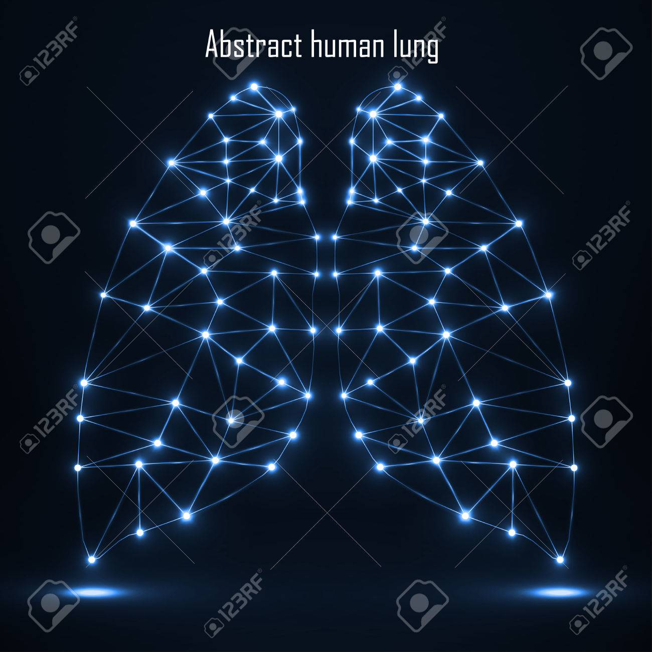 Abstract Human Lung Network Connections Vector Illustration