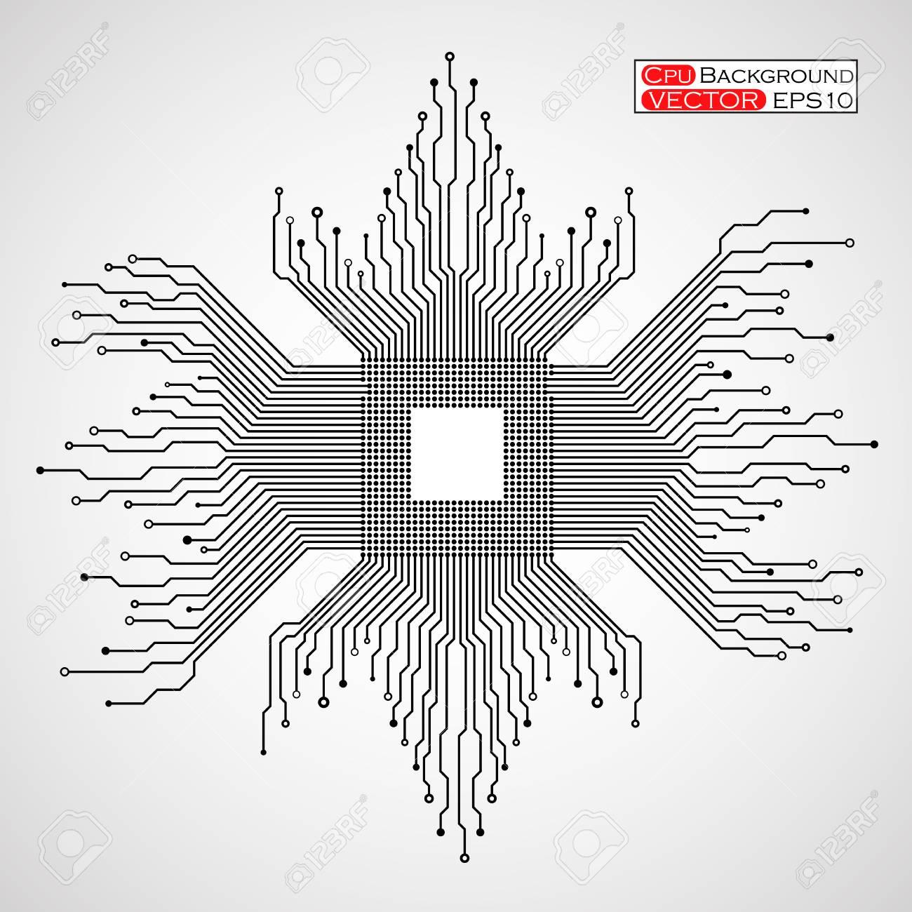 Illustration De La Carte De Circuit Imprimé. Clip Art Libres De ...