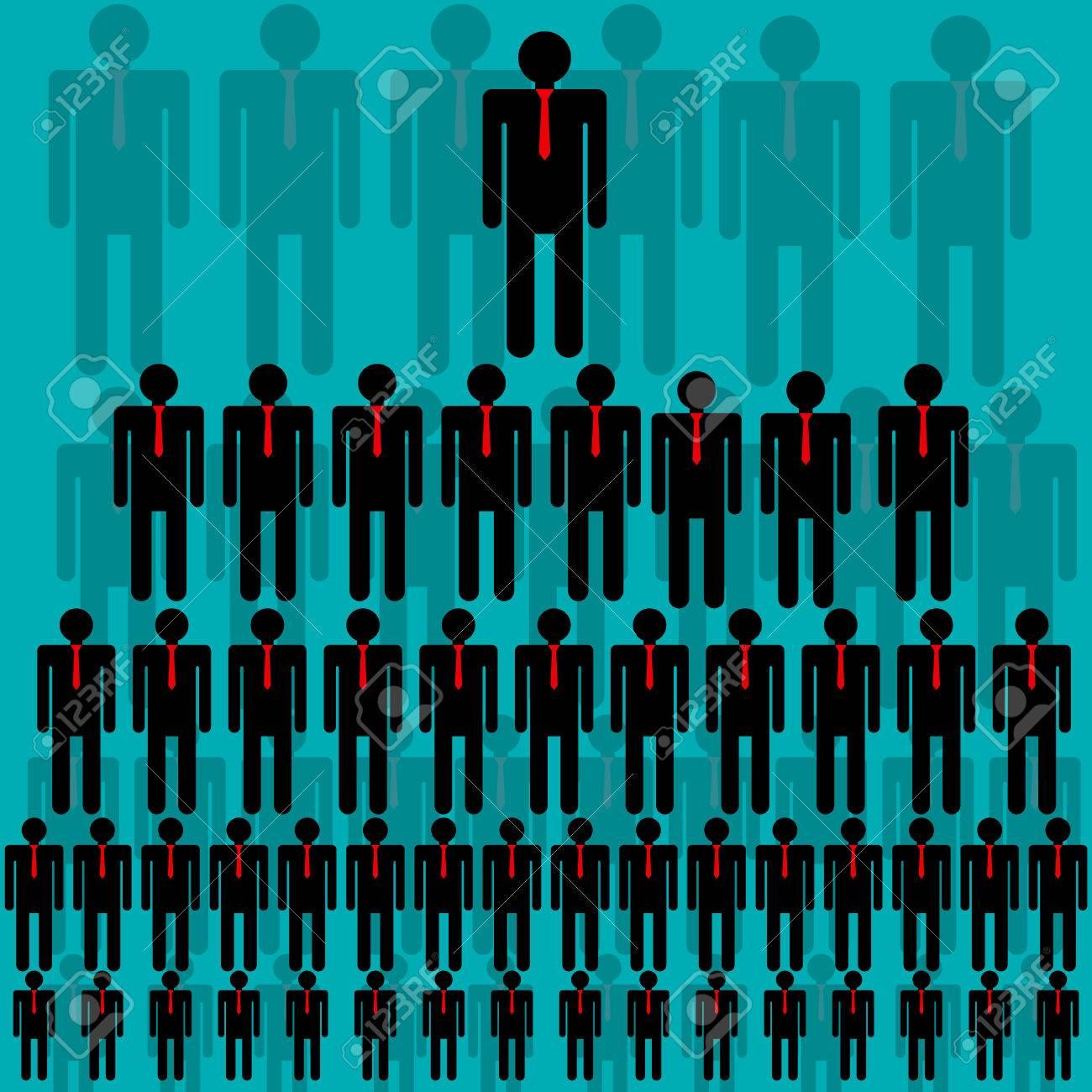 Jerarquía De La Empresa La Estructura Piramidal Red De Negocios Ilustración Del Vector