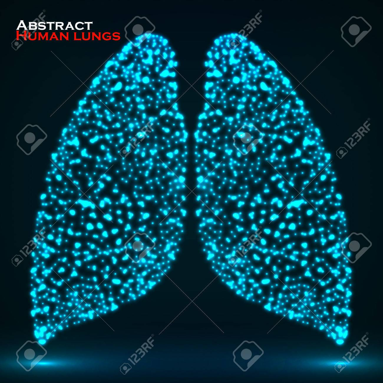 Abstract Glowing Human Lung Royalty Free Cliparts Vectors And