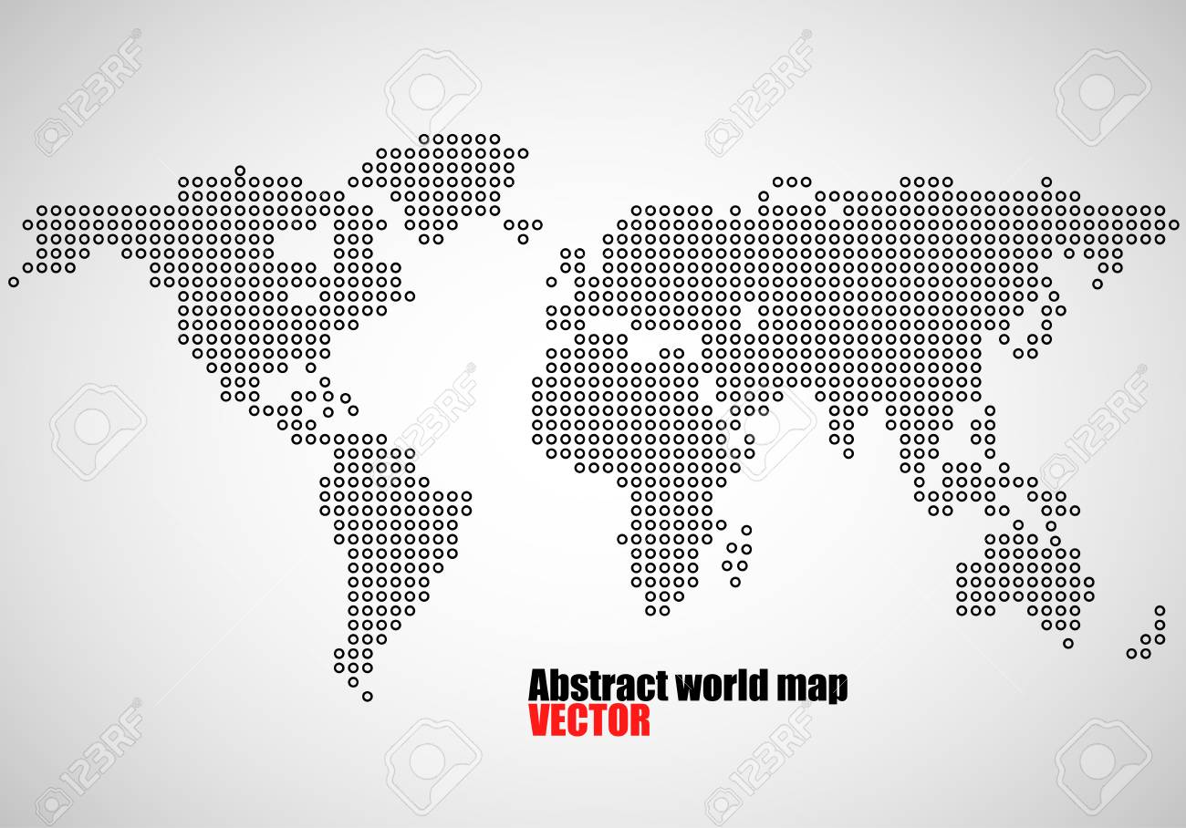 Abstract world map of dots vector illustration eps 10 royalty free abstract world map of dots vector illustration eps 10 stock vector 66669096 gumiabroncs Choice Image