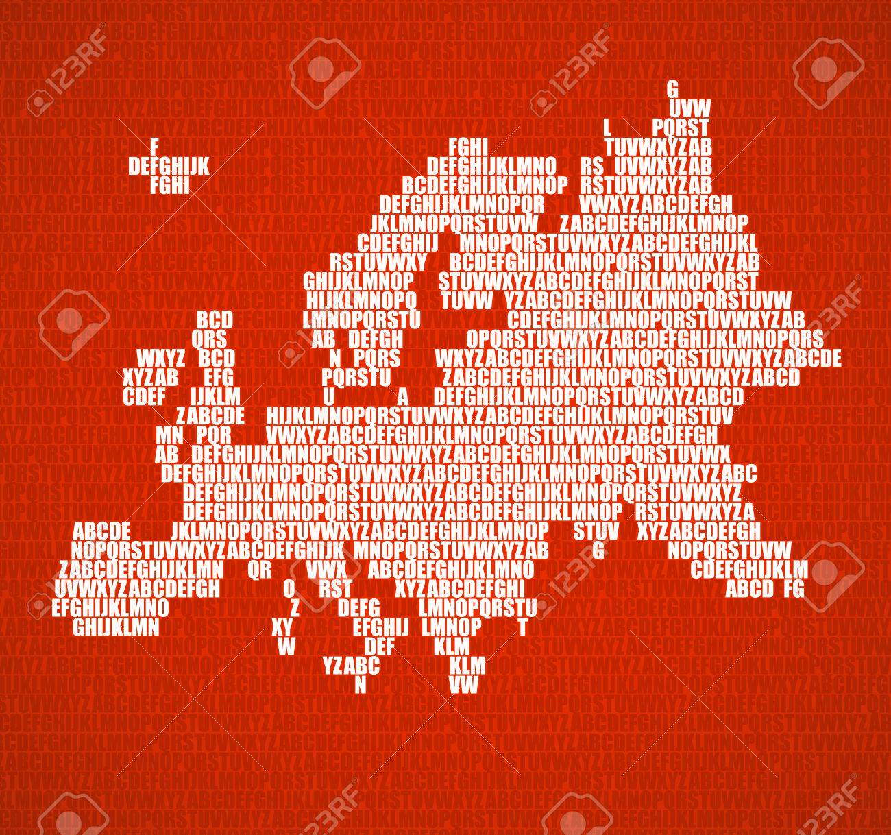 Abstract europe map with letters of english alphabet in orange abstract europe map with letters of english alphabet in orange vector background stock vector gumiabroncs Images