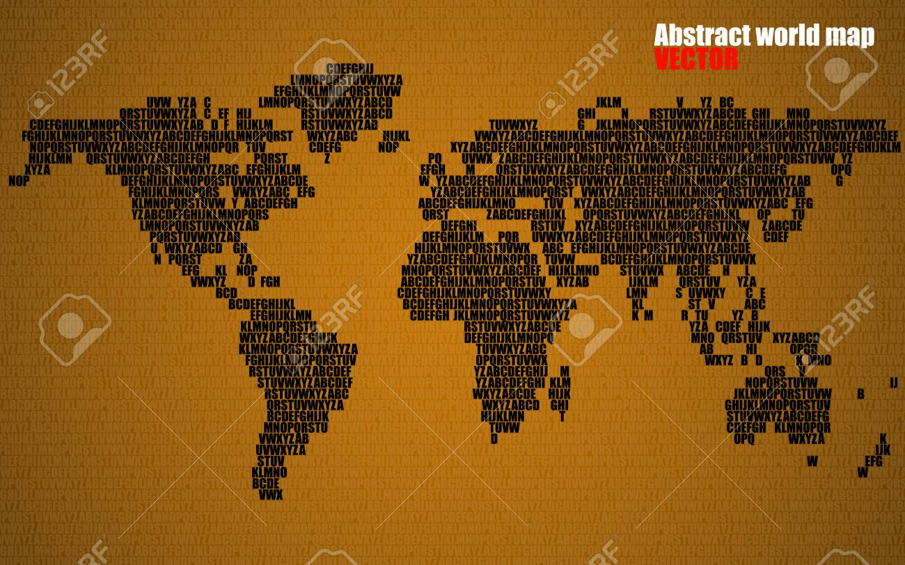 Abstract world map with letters of english alphabet vector abstract world map with letters of english alphabet vector background stock vector 74228795 gumiabroncs Choice Image