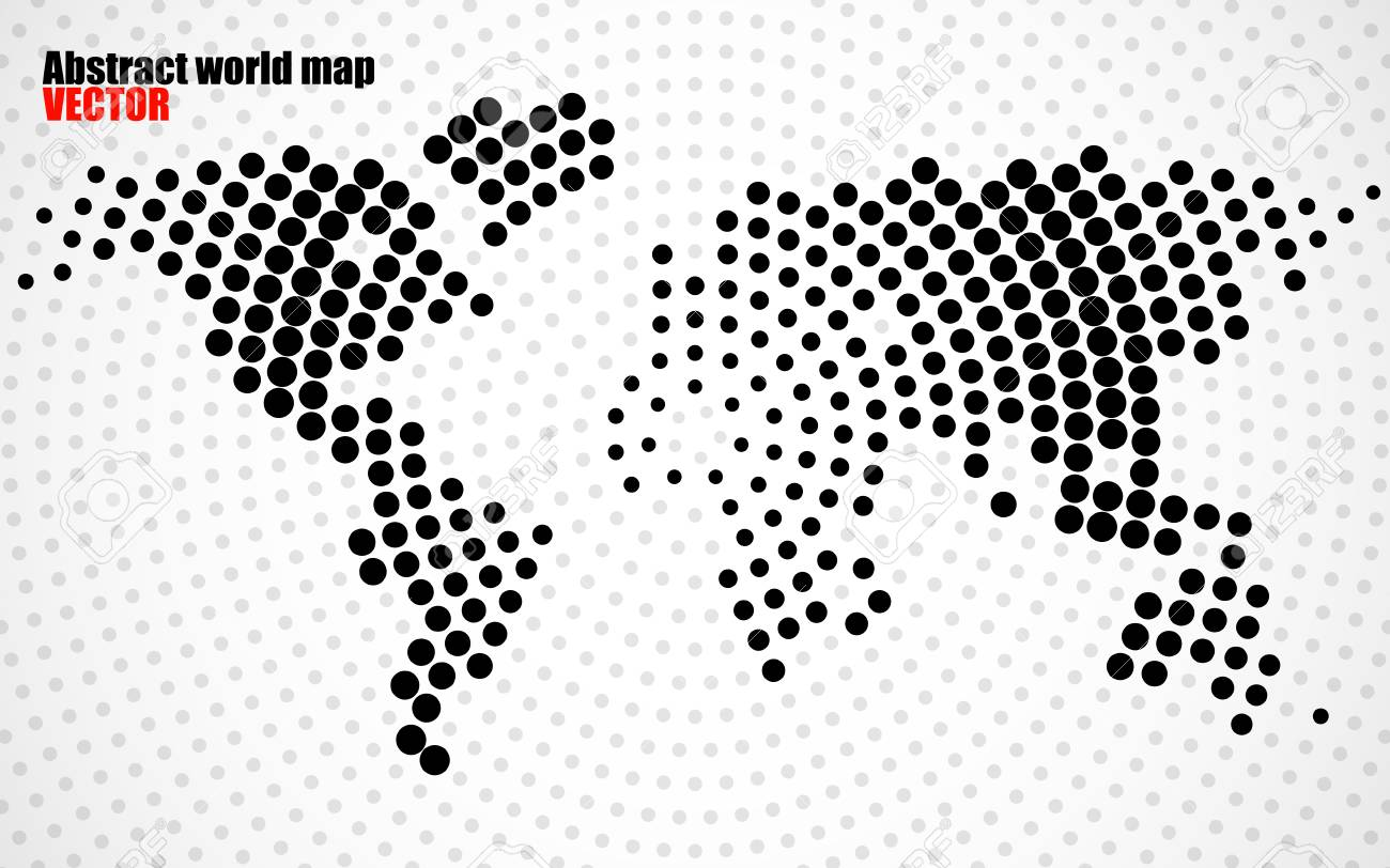 Abstract world map of radial dots vector royalty free cliparts abstract world map of radial dots vector stock vector 75948344 gumiabroncs Images
