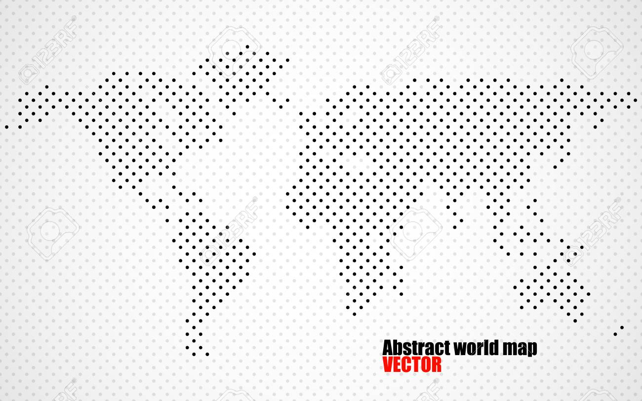 Abstract world map of dots royalty free cliparts vectors and abstract world map of dots stock vector 76168210 gumiabroncs Gallery