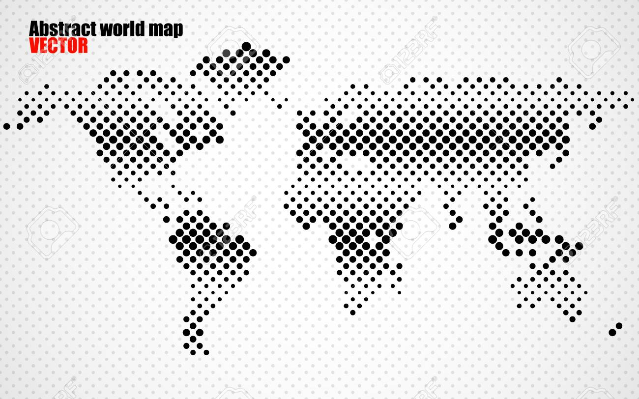 Abstract halftone world map vector royalty free cliparts vectors abstract halftone world map vector stock vector 77709175 gumiabroncs Image collections