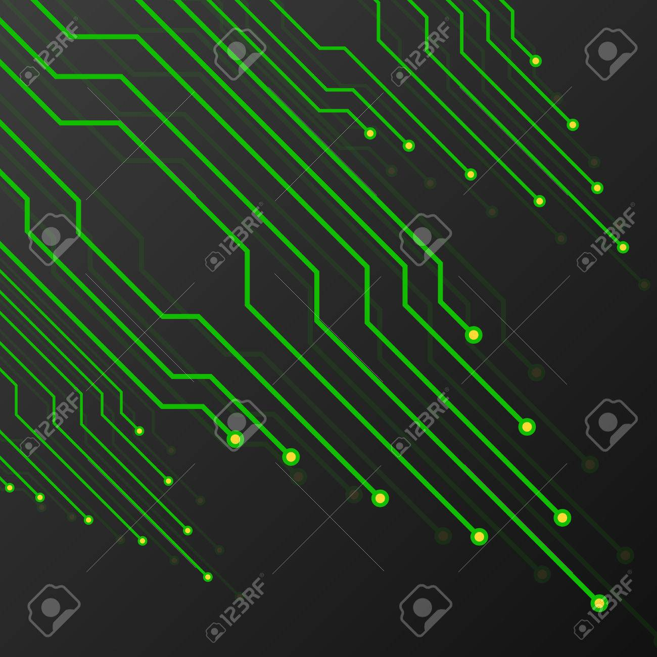 Black Circuit Board Pattern Wallpaper Electronics Green Picture Frame By Robyriker On Background Abstract Technology Royalty Free