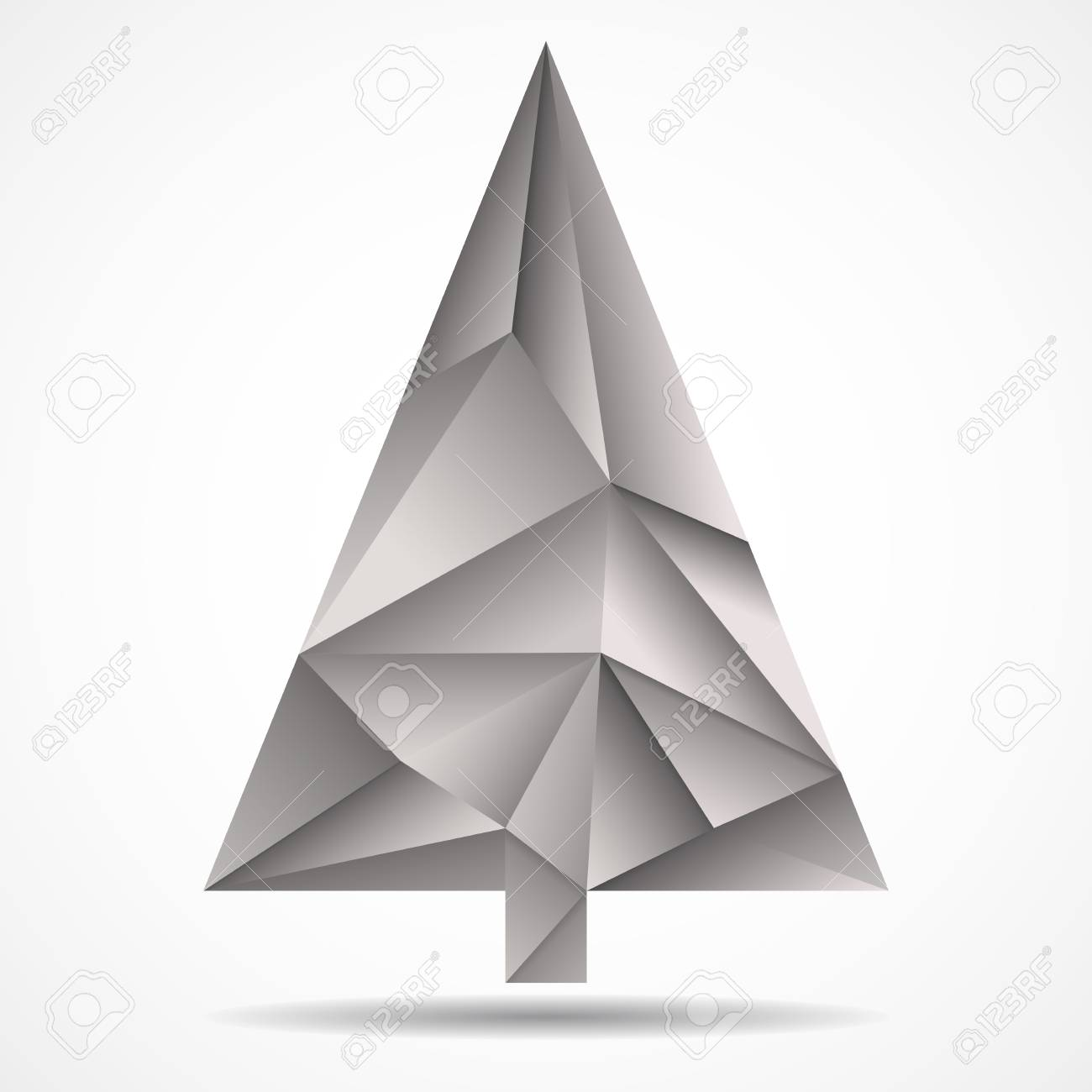 Abstract Colorful Christmas Tree From Triangles Geometric Style Vector Illustration Eps 10 Stock