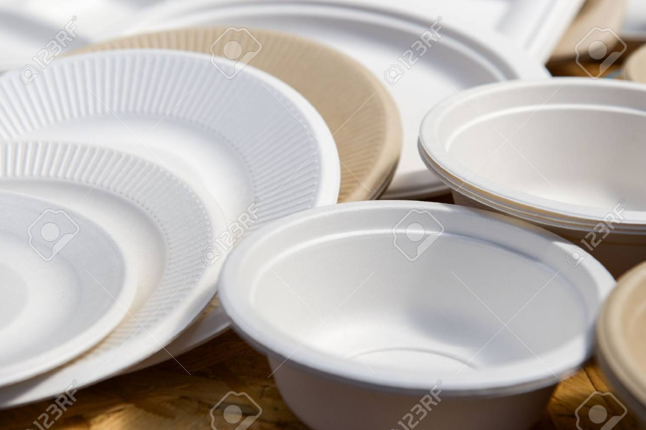 a variety of paper disposable plates of different colors Stock Photo - 42641428 & A Variety Of Paper Disposable Plates Of Different Colors Stock Photo ...