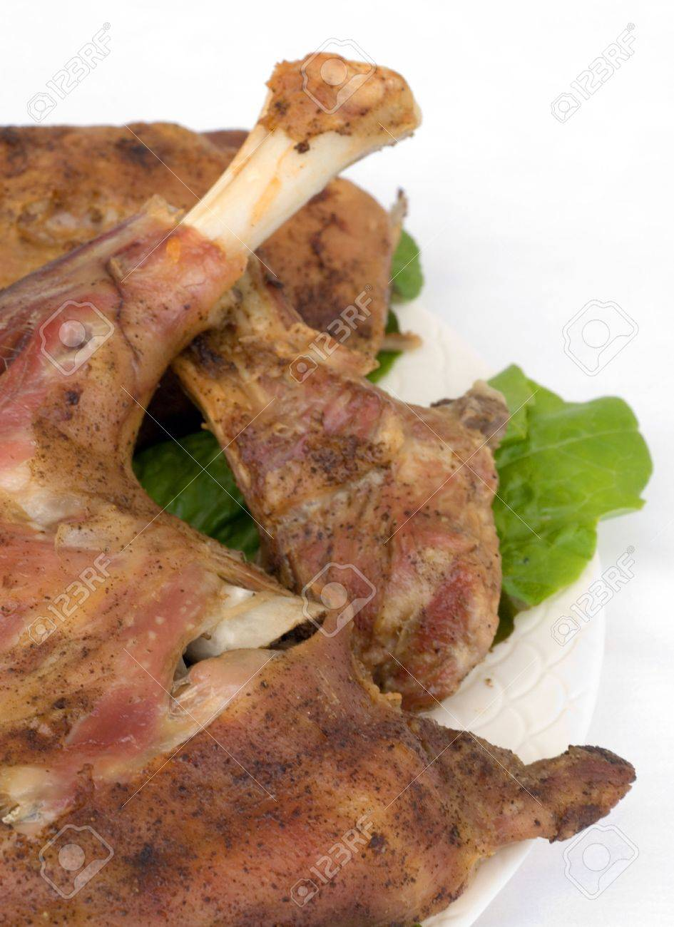 Grilled goat-meat ready to serve