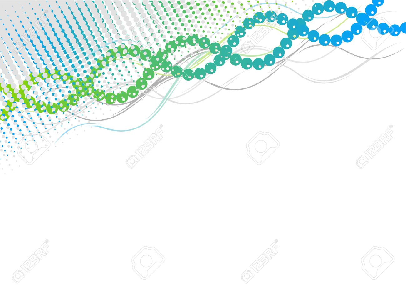 Blue and green spiral background Stock Vector - 6758663