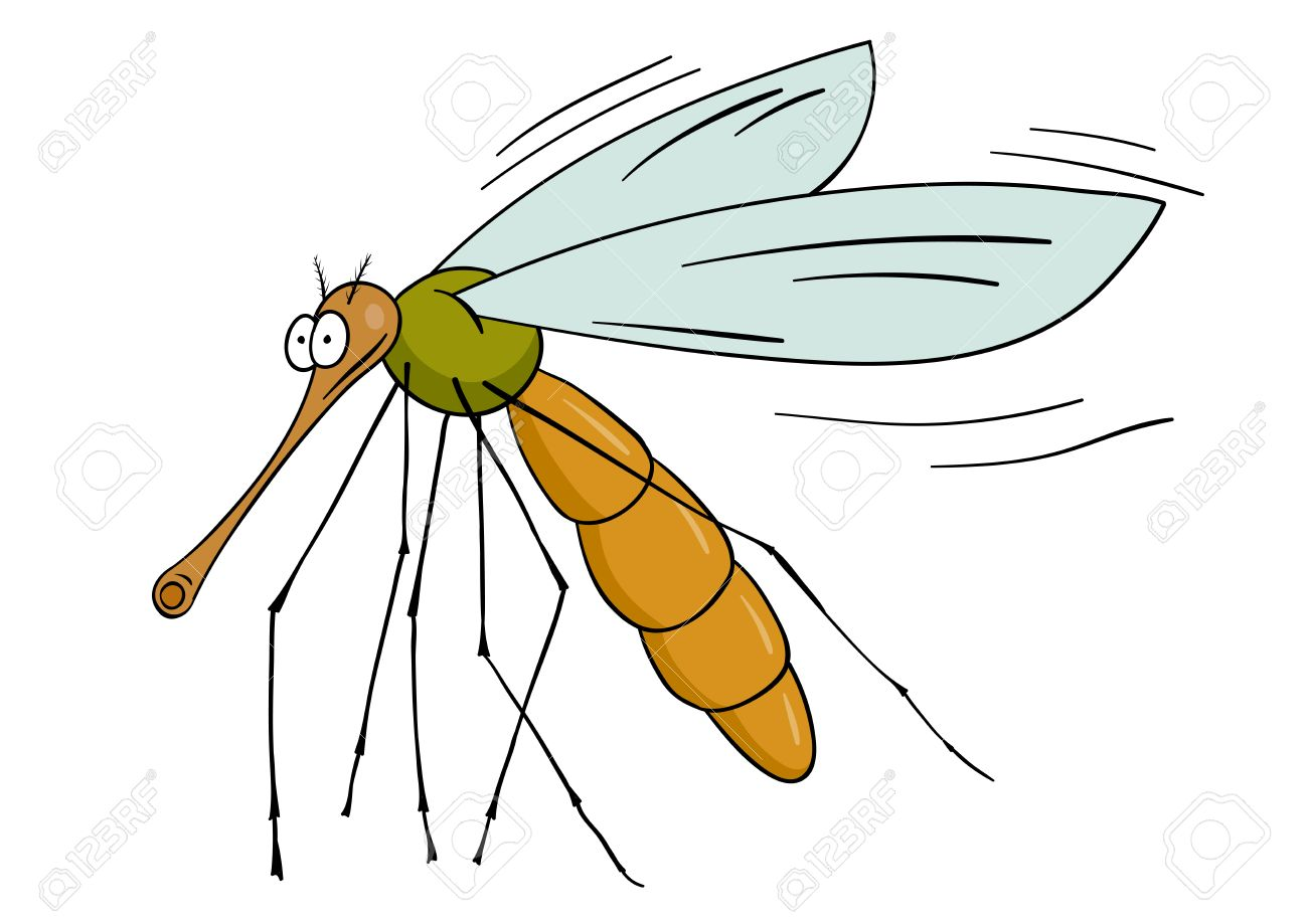 Drawing gnat isolated on the white Stock Vector - 7053187