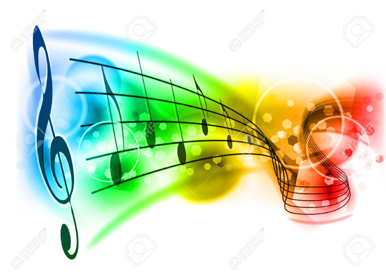 music background with color note Stock Vector - 8703259