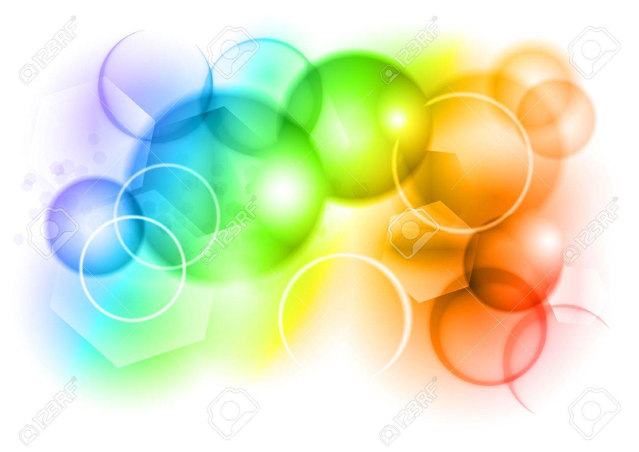 bubble abstract background in rainbow color royalty free cliparts