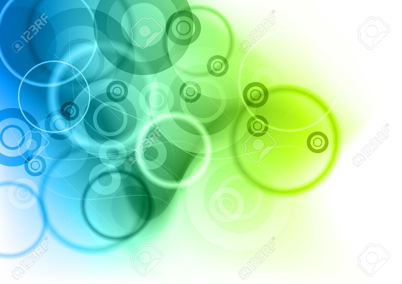 blue and green abstract background - 9224060
