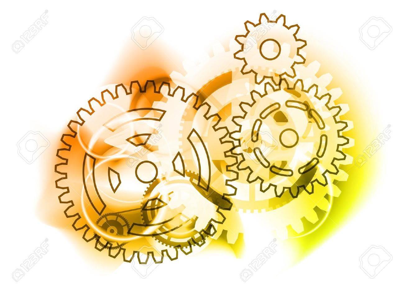 cogwheels on the industrial background Stock Vector - 9318194